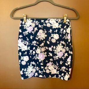 NWT A&F Floral Stretch Mini Skirt